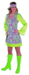 Happy Kleid 70er Partykleid Hippieparty Faschingskost�m 60er Jah