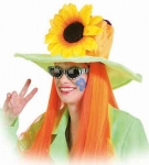 Hippie Flower Power 60er 70er Jahre Hut Karneval Party