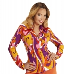 Groovy Partybluse Retrobluse 70er Jahre Ibiza-Style Mallorcaparty Vintage