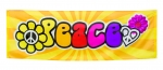 Riesen Flower Power Peace Mottoparty Banner Flagge 74cm x 220cm