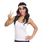 Hippie Set 70er Jahre Nickelbrille Mottoparty Karneval